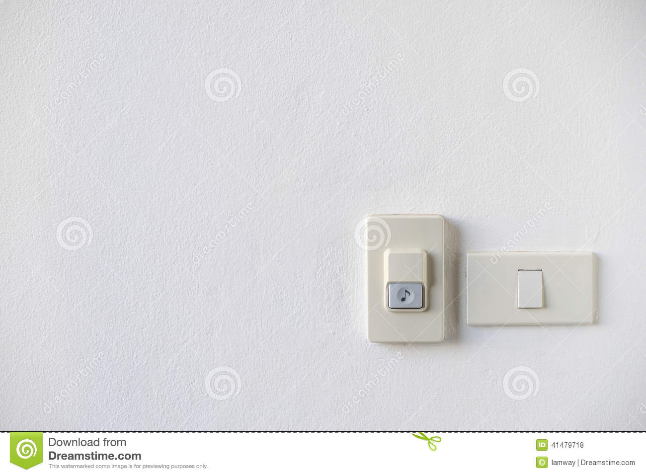 House doorbell with light switch stock photo image 41479718 for Housse switch
