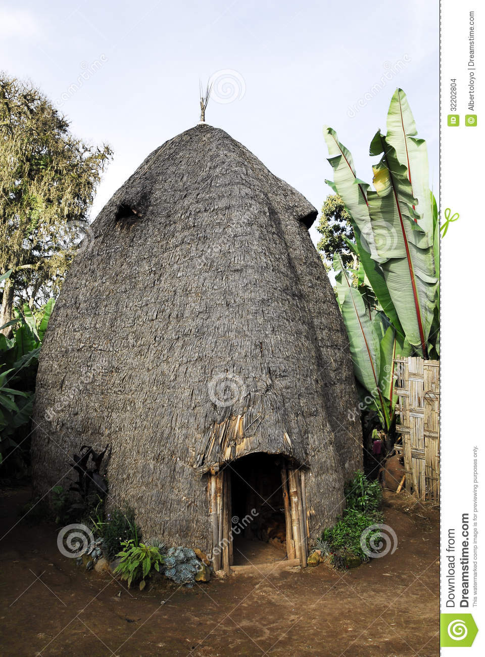 Ethiopian House Design: House Of The Dorze People, Ethiopia Stock Images