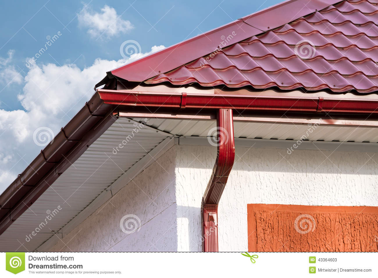 House with drainpipes stock image image of drain outside for House roof drain pipes