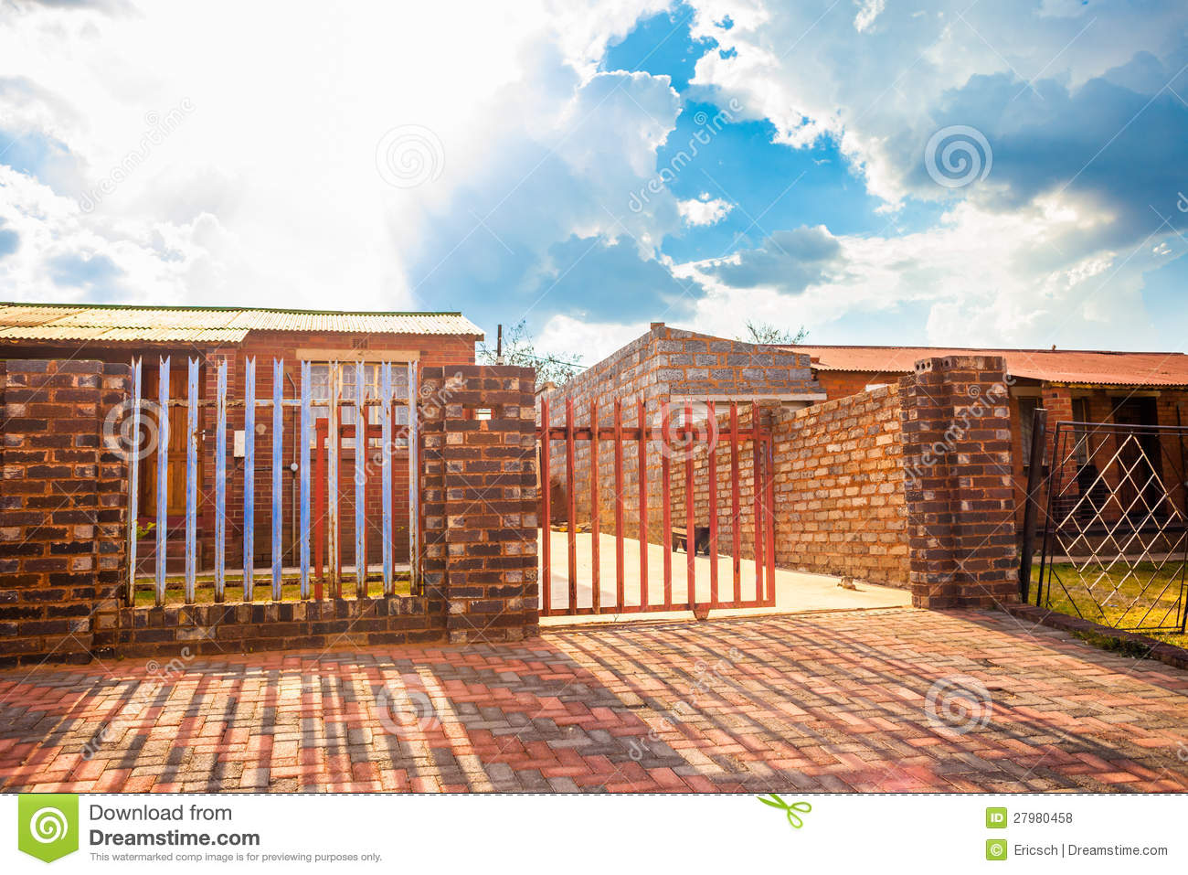 House gate johannesburgs famous soweto township south africa