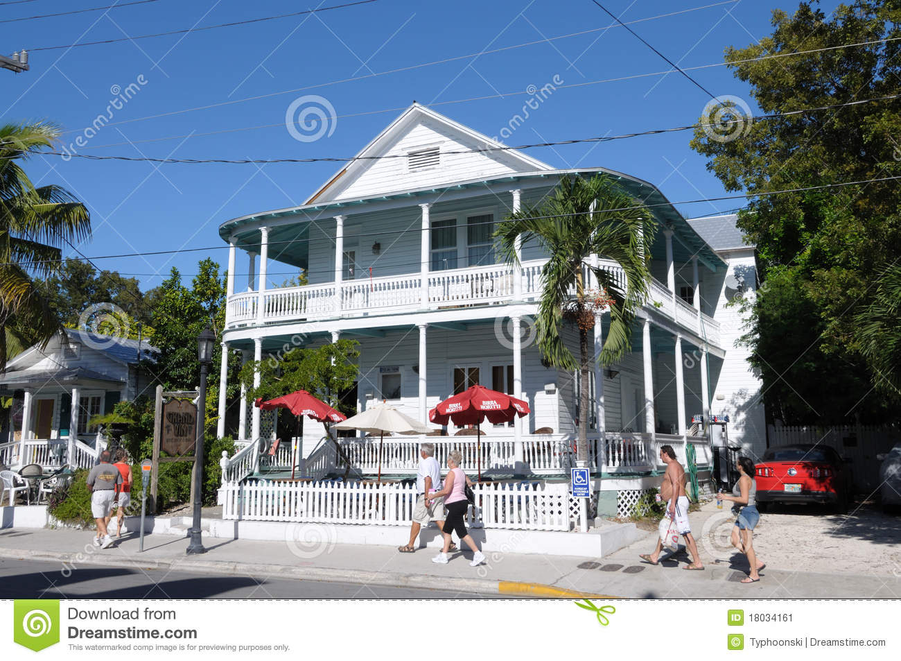Superb House In Duval Street Key West Editorial Photo Image Of Download Free Architecture Designs Scobabritishbridgeorg