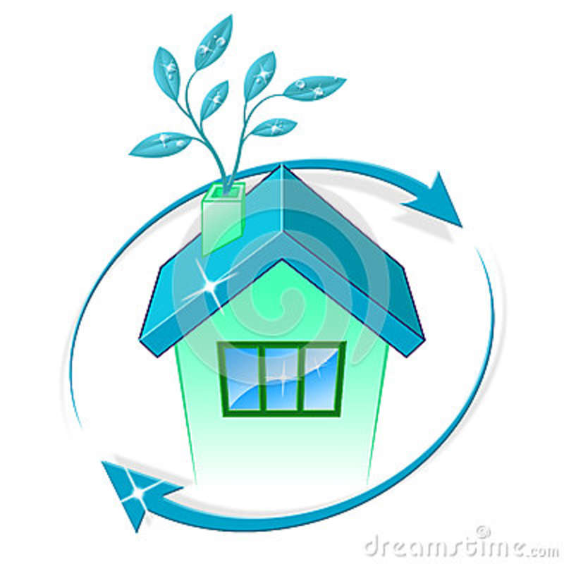 House Eco Represents Go Green And Building Stock