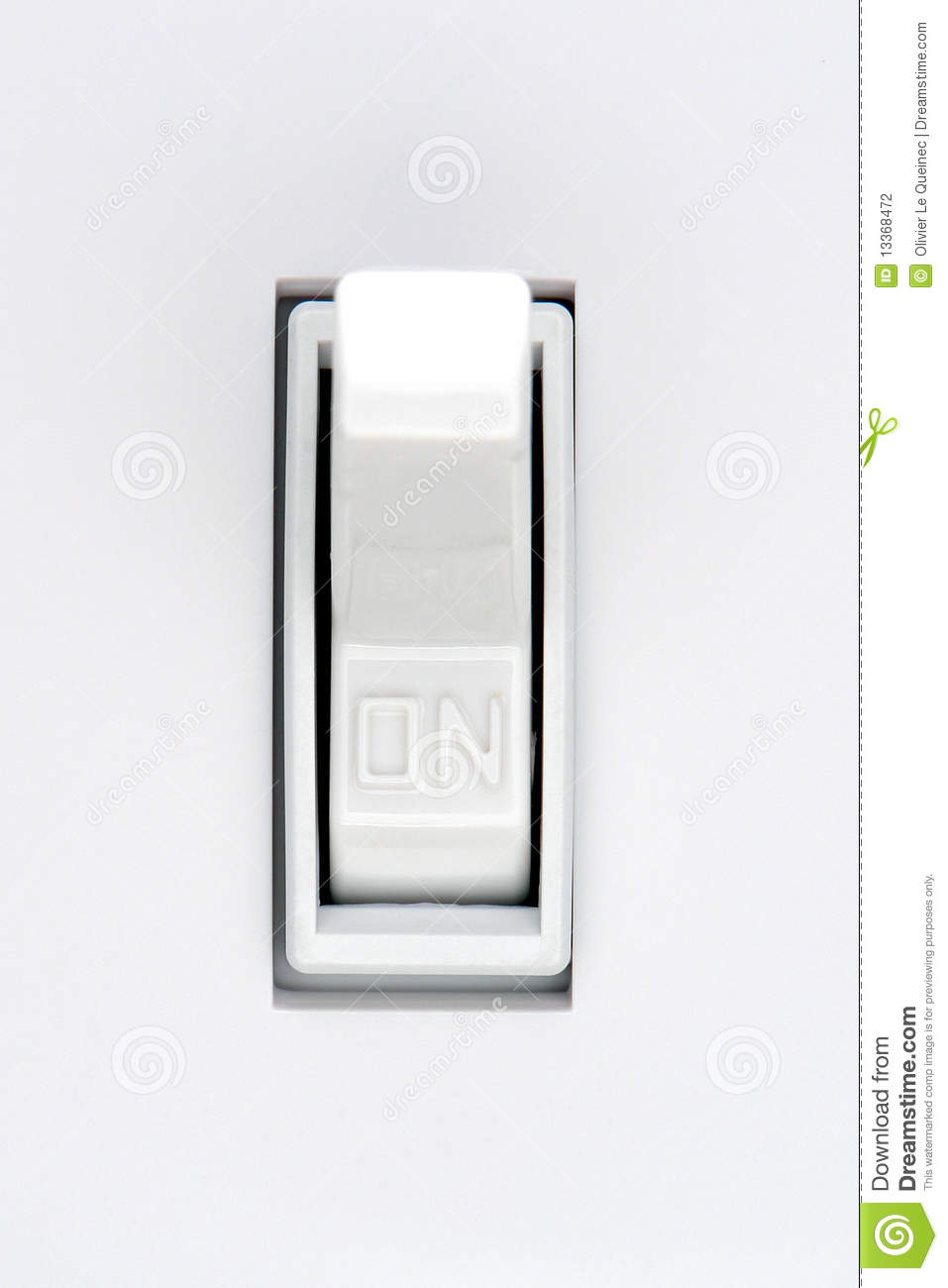 house electric light switch in on position stock photo On housse switch