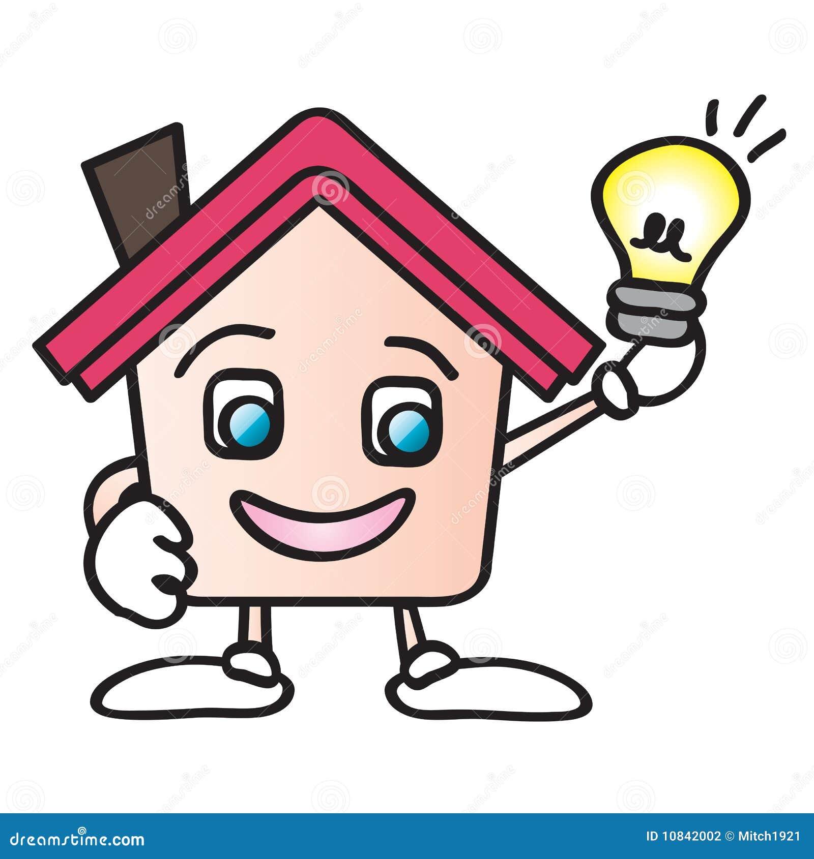 House Energy Cartoon Stock Vector Image Of Bright Green