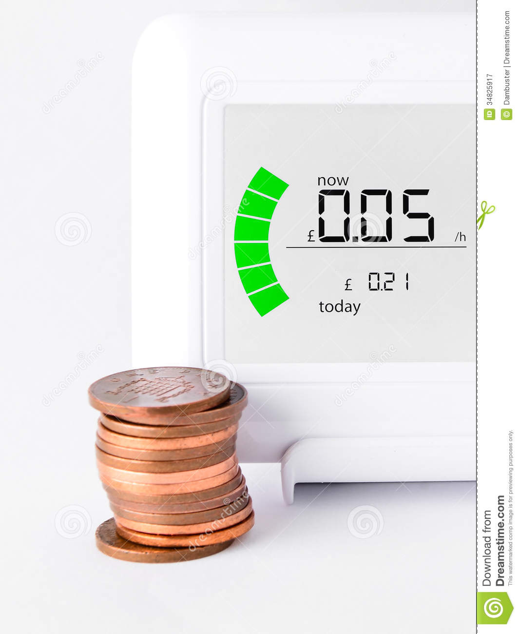 Household Energy Meter : House energy meter royalty free stock photography image