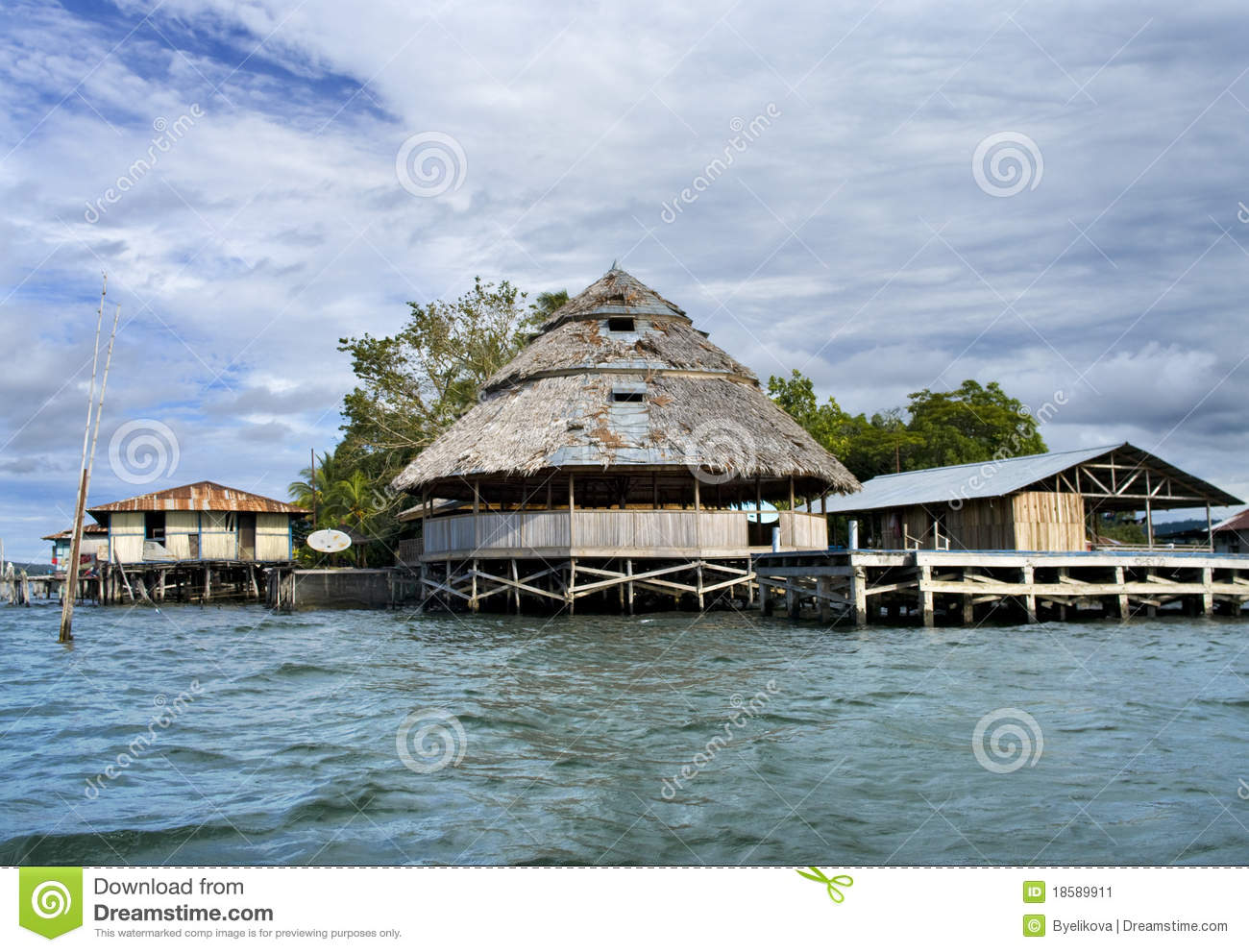 The house established on piles stock image image 18589911 House piles