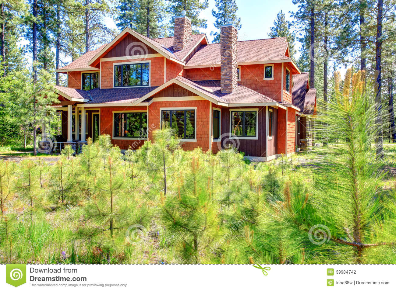 Download House Exterior. Backyard View Stock Photo   Image Of House, Small:  39984742