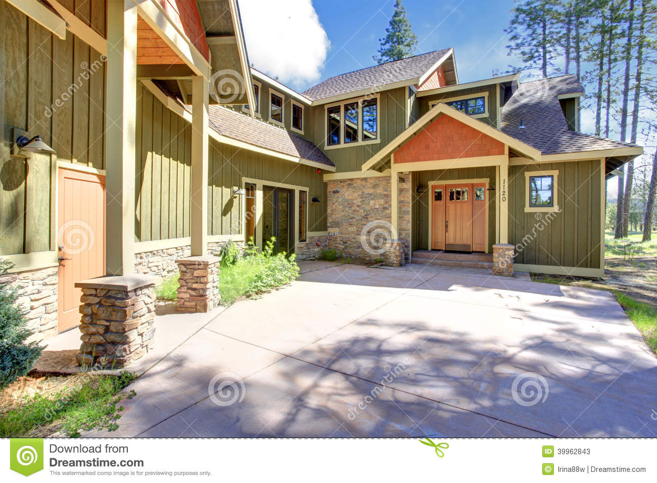 House exterior entrance porch stock image image 39962843 for Sustainable siding