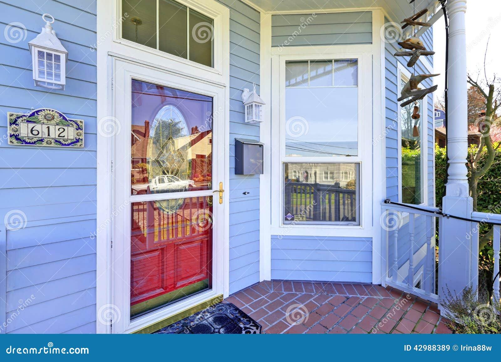 House Exterior Entrance Porch Stock Photo Image 42988389