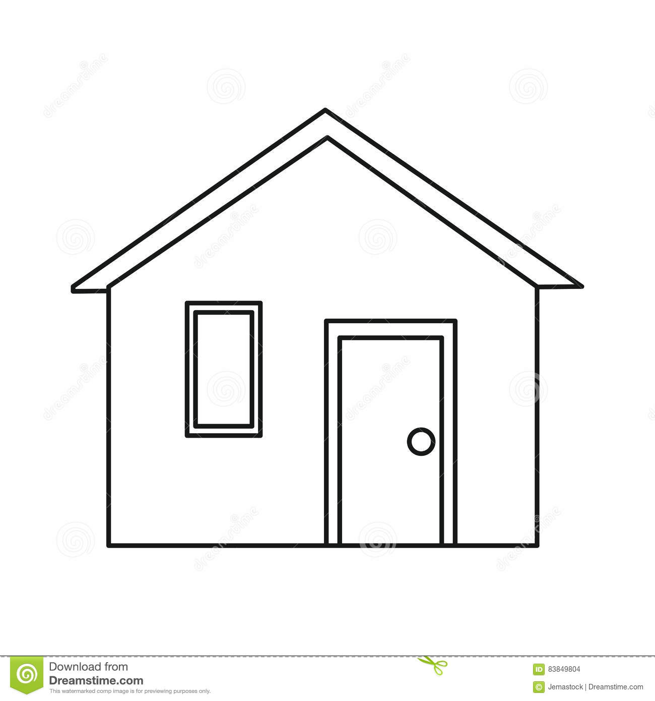 House outline picture - Royalty Free Vector Download House Family Front View Outline