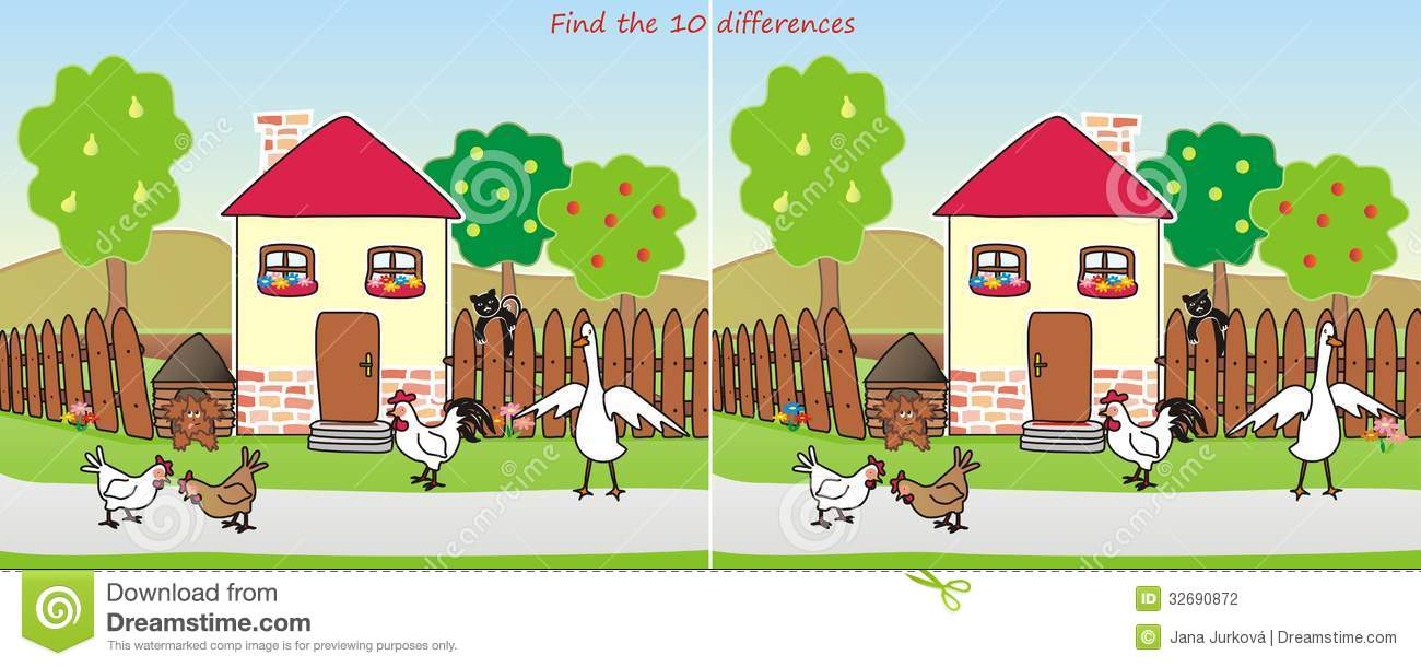 House find 10 differences stock photography image 32690872 Find a house