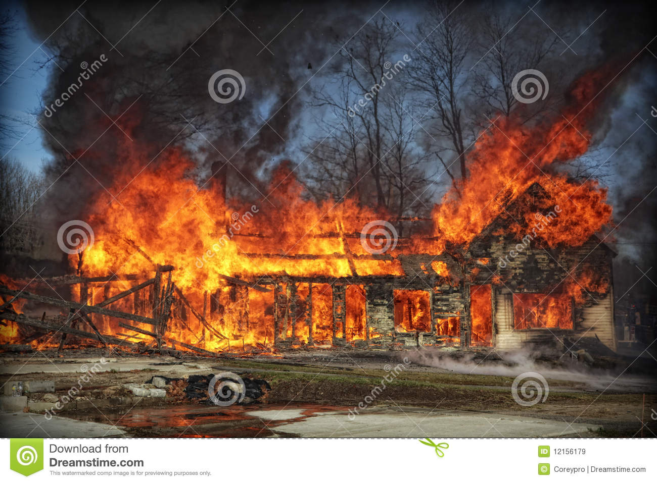 House Fire Royalty Free Stock Images