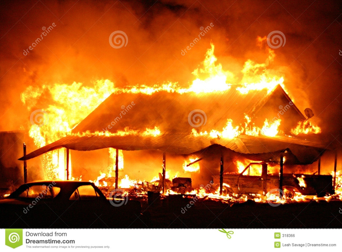 House Fire Royalty Free Stock Image Image 318366