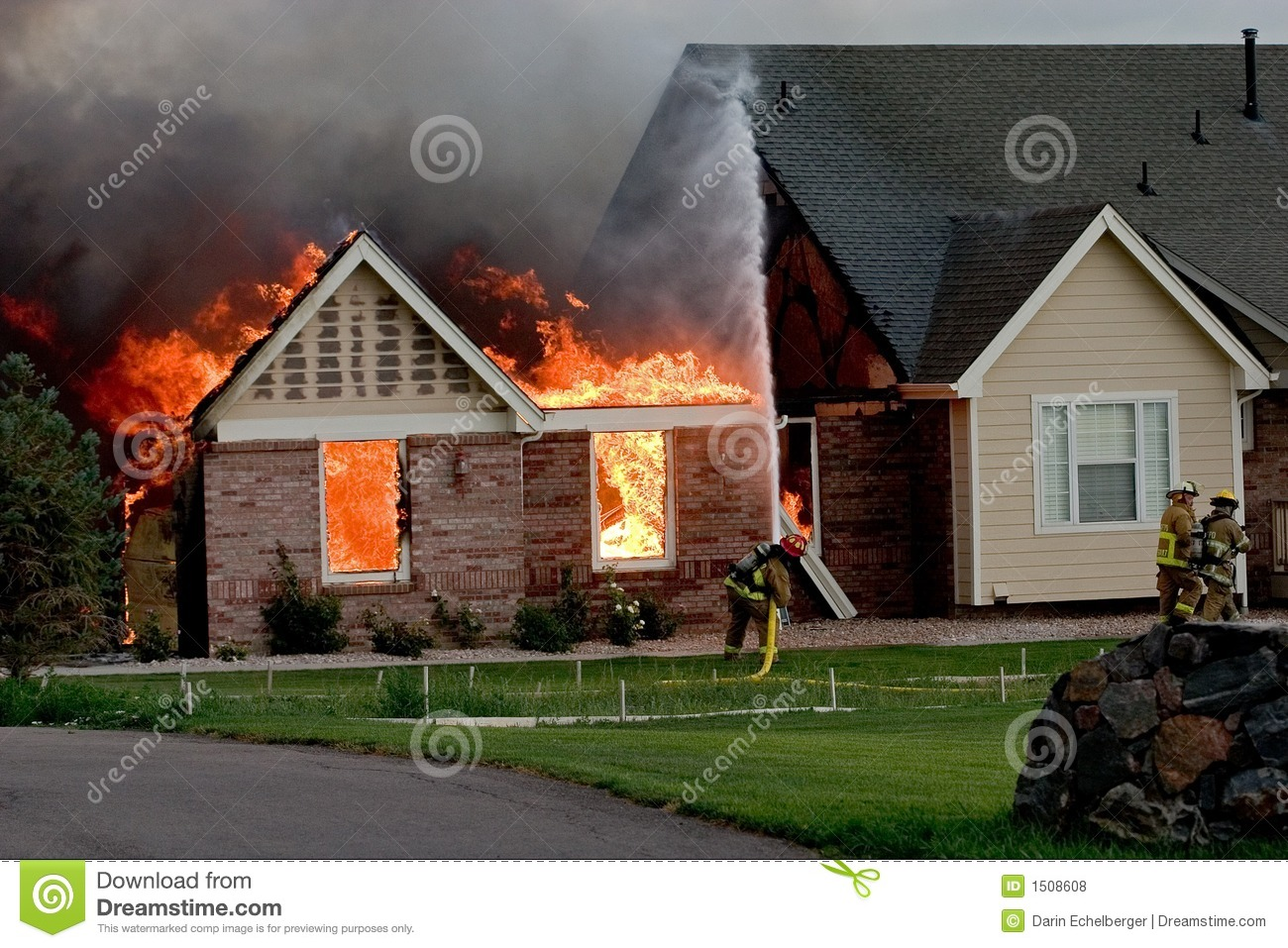 House Fire 4 Royalty Free Stock Photos Image 1508608