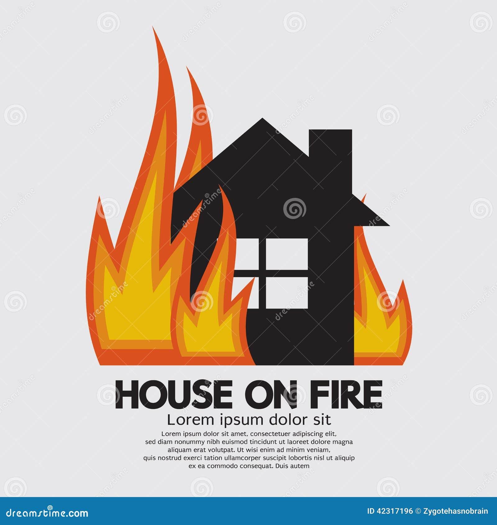 clipart burning house - photo #24