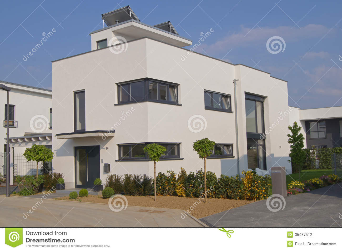 house  flat roof stock photography image