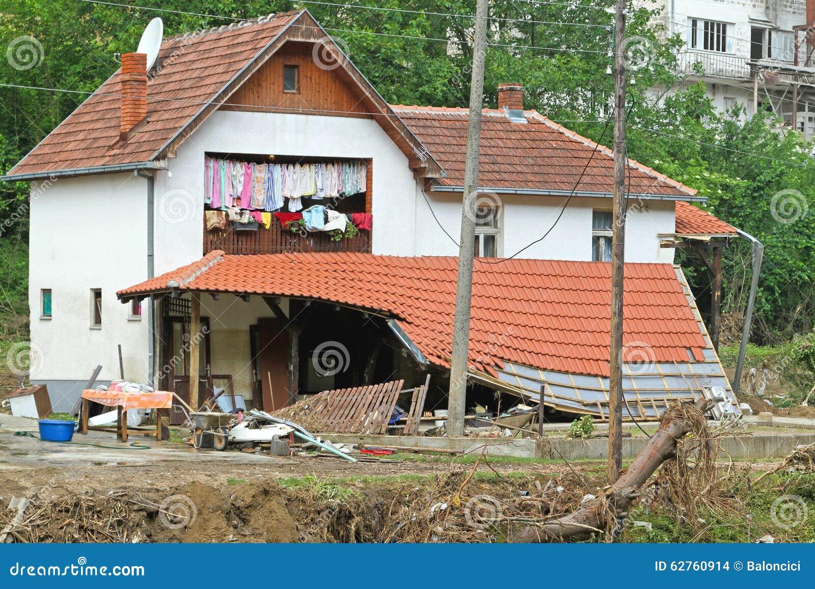 house floods stock photo image 62760914. Black Bedroom Furniture Sets. Home Design Ideas