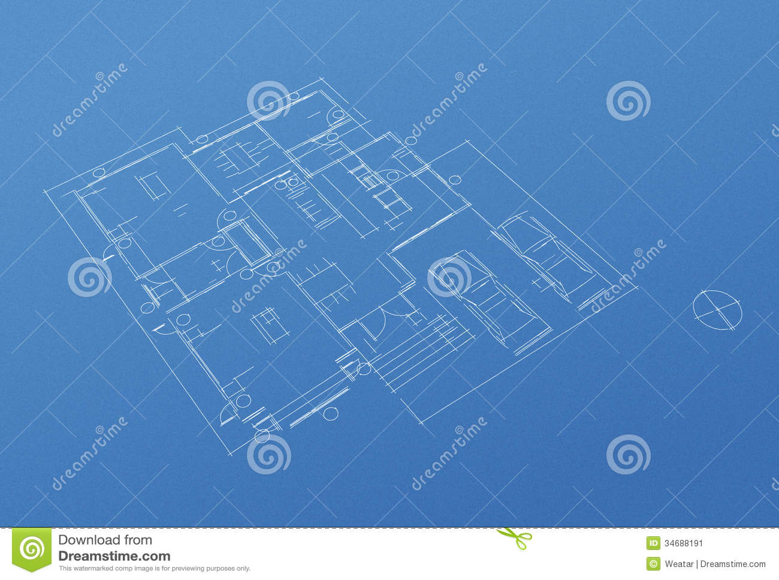 House floor plan blueprint stock image image 34688191 for Floor plan maker free no download