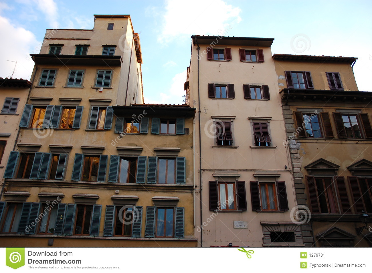 House In Florence Stock Image Image 1279781