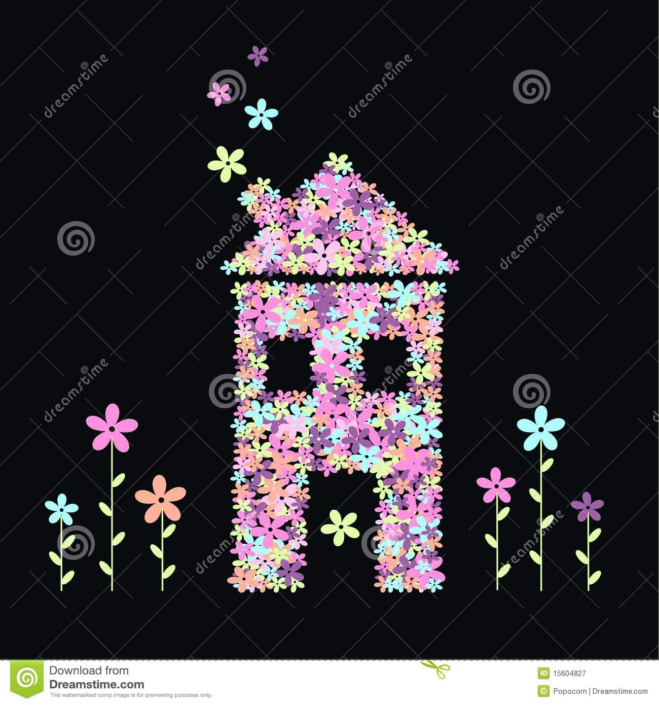 House Flowers Royalty Free Stock graphy Image