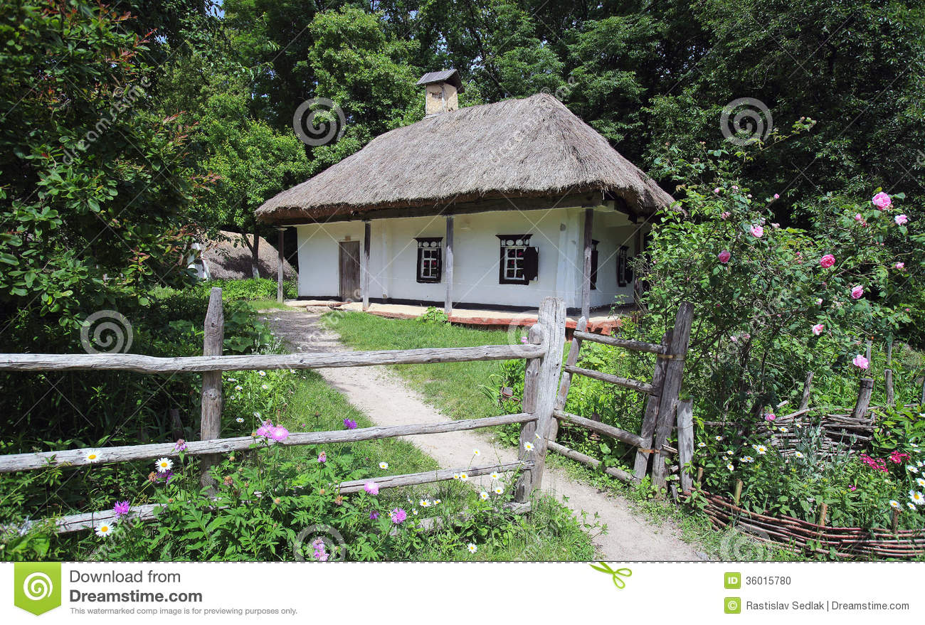 House In The Forest Stock Photo Image 36015780