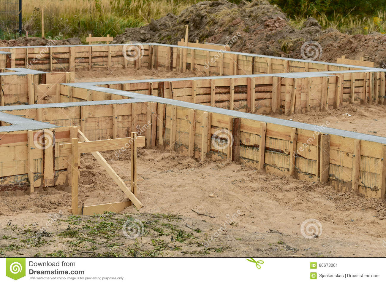 house foundation construction stock photo image 60673001