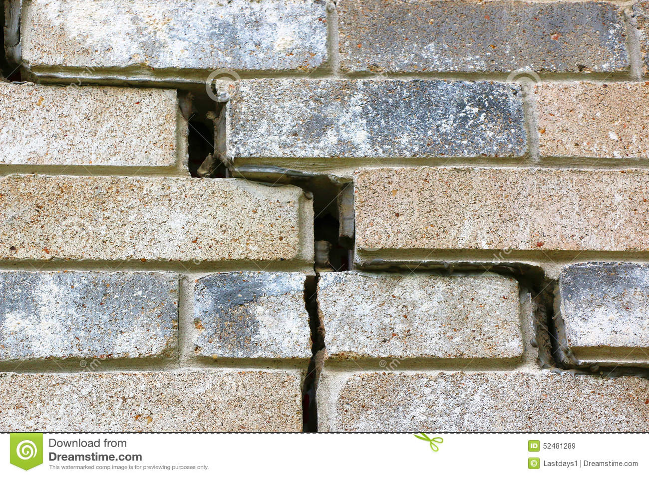 Brick Vector Picture Brick Veneers: House Foundation Failure Stock Image. Image Of Beams