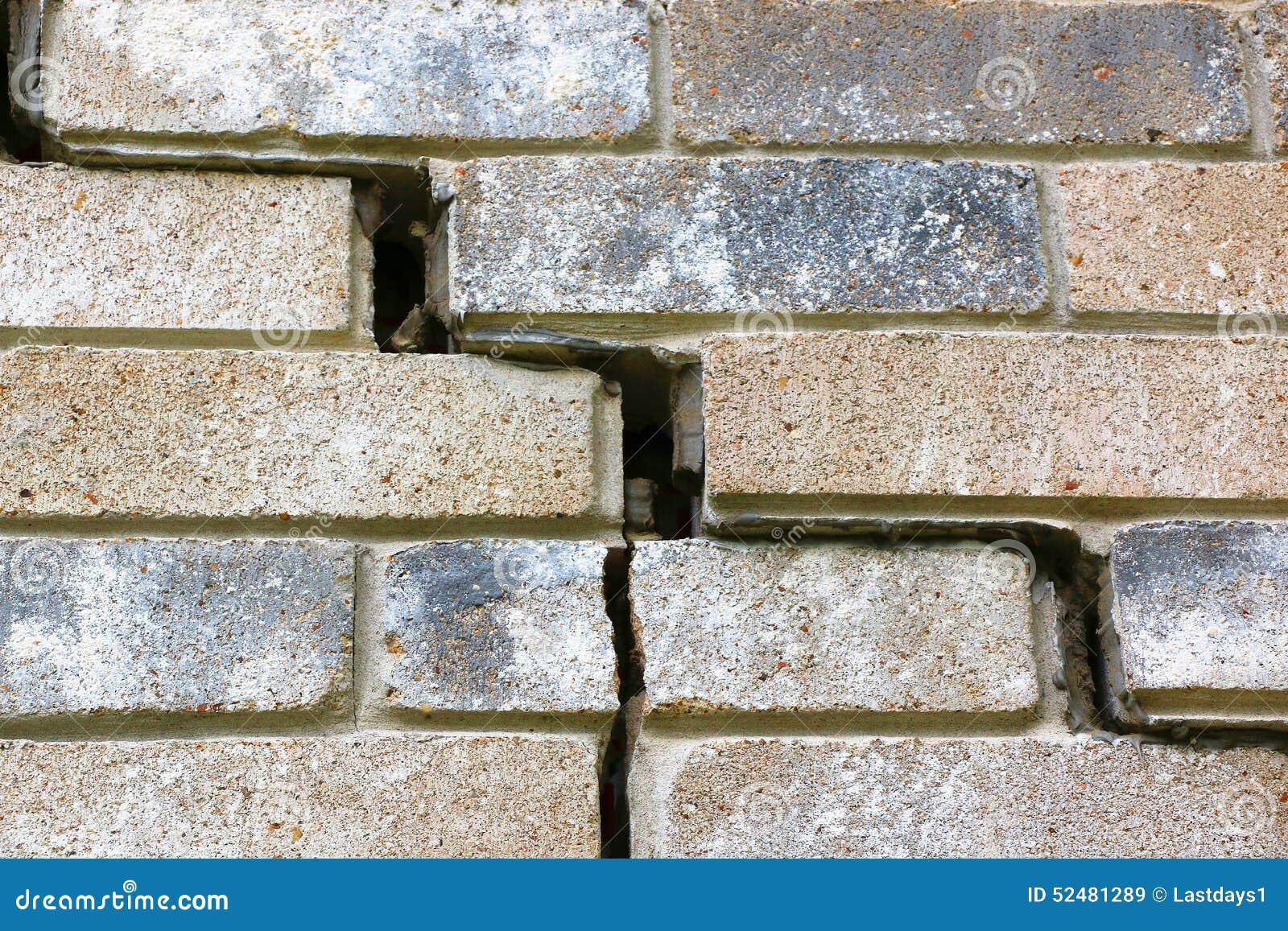 House foundation failure stock photo image 52481289 for Brick veneer home