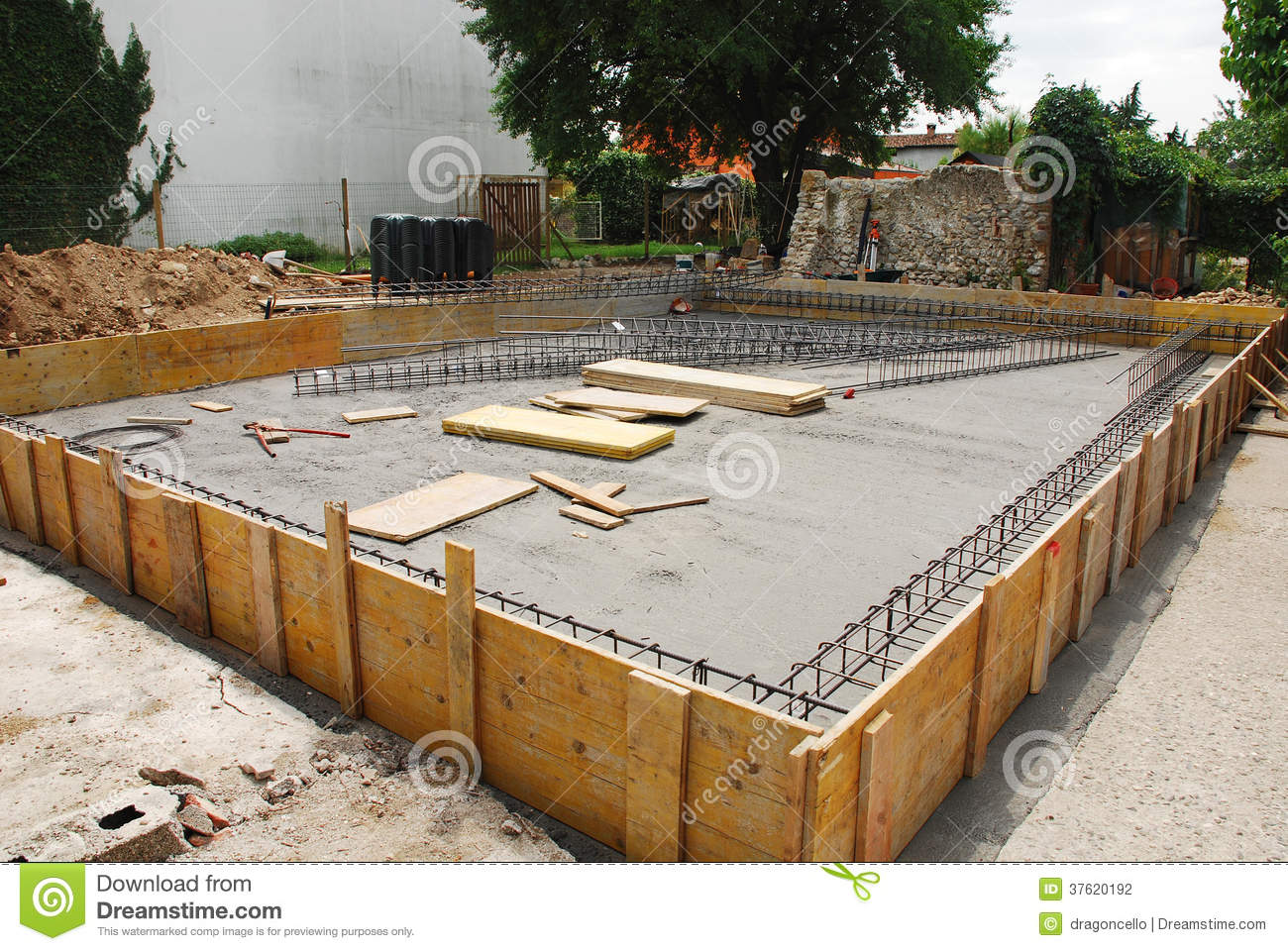 Foundation of a house royalty free stock photography for Building home foundation