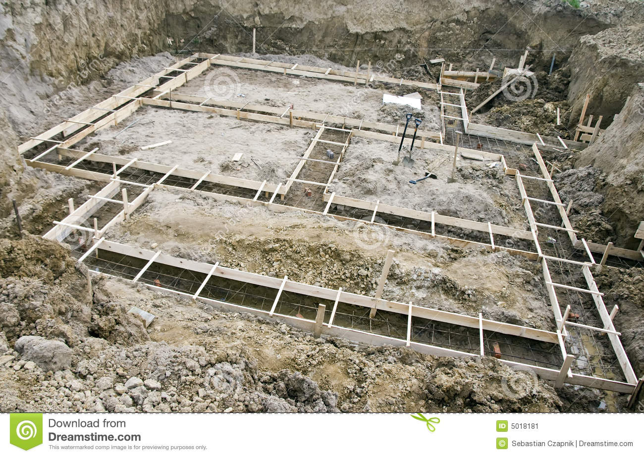 House foundations stock image image of base ground for Home foundation