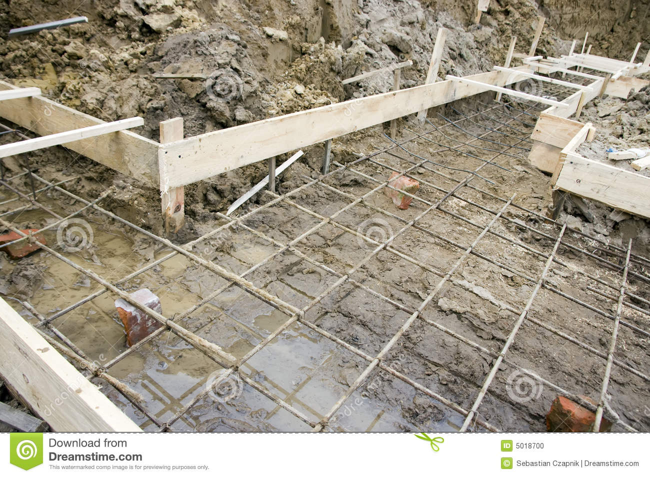 House foundations detail stock photo image of view house for Home foundation