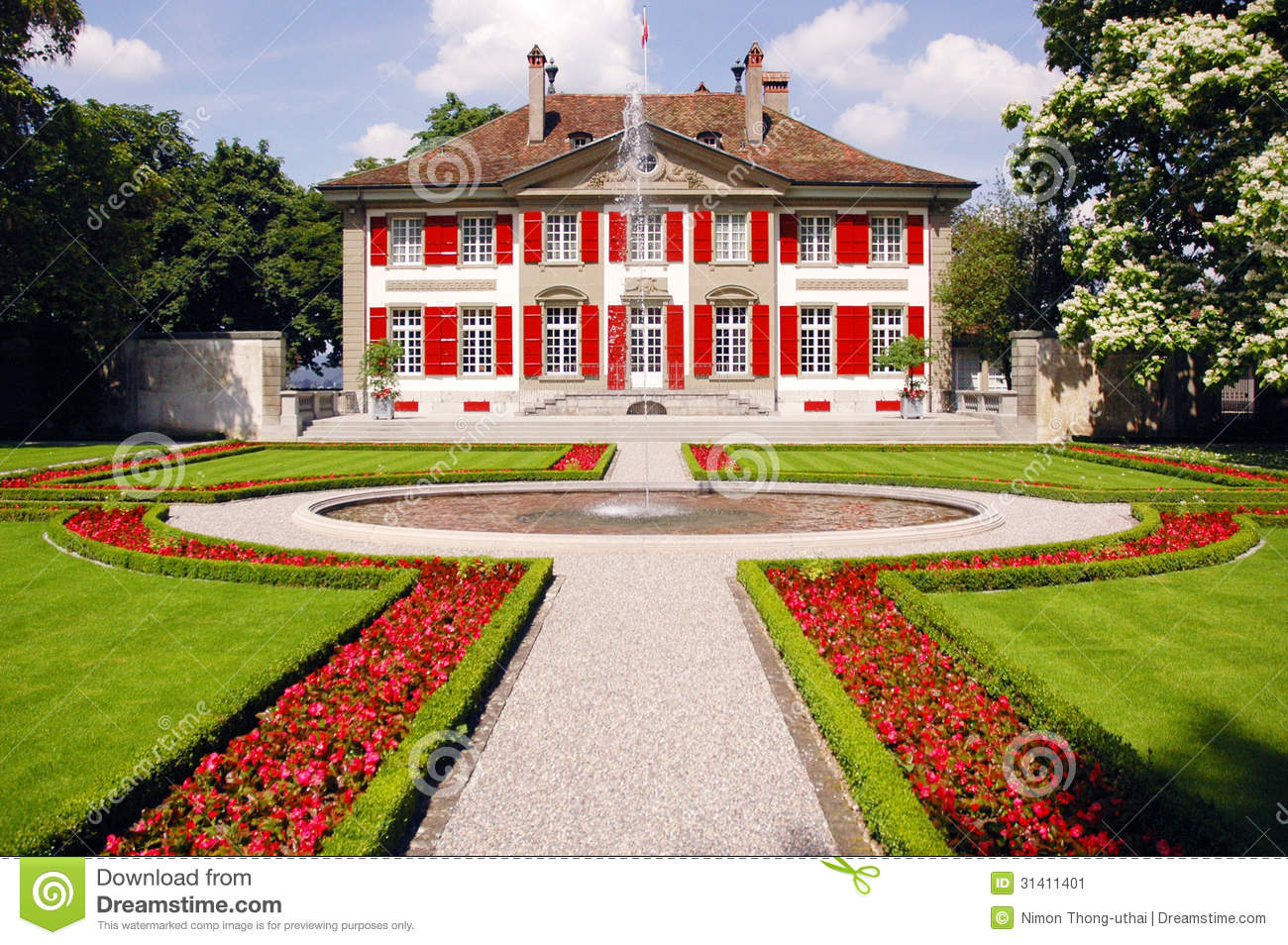 House with fountains and gardens stock image image of - Fuentes para casa ...
