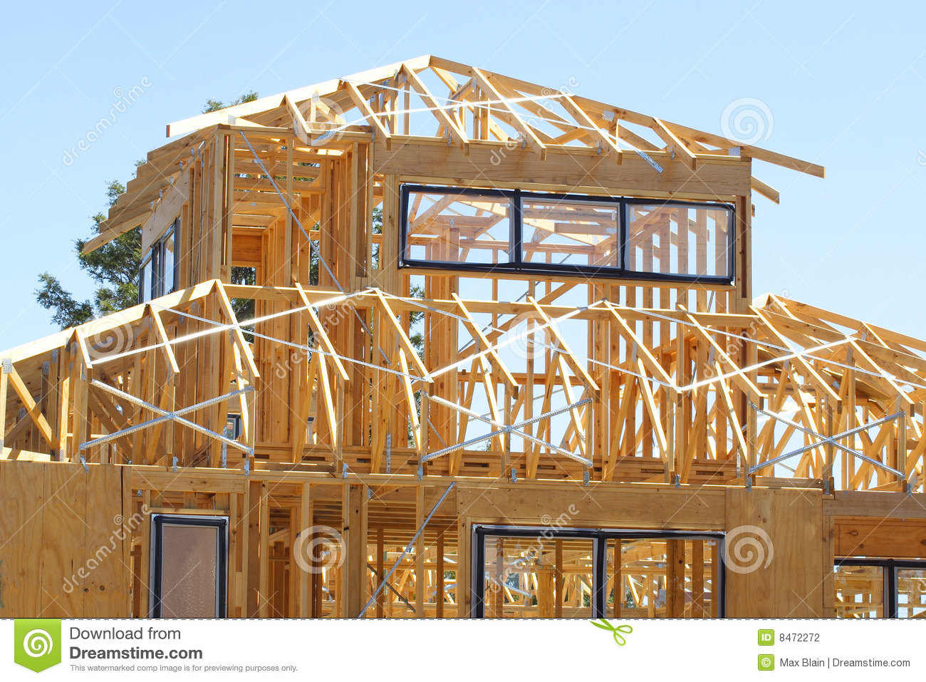 House Frame Stock Photo Image Of House Tall Horizontal