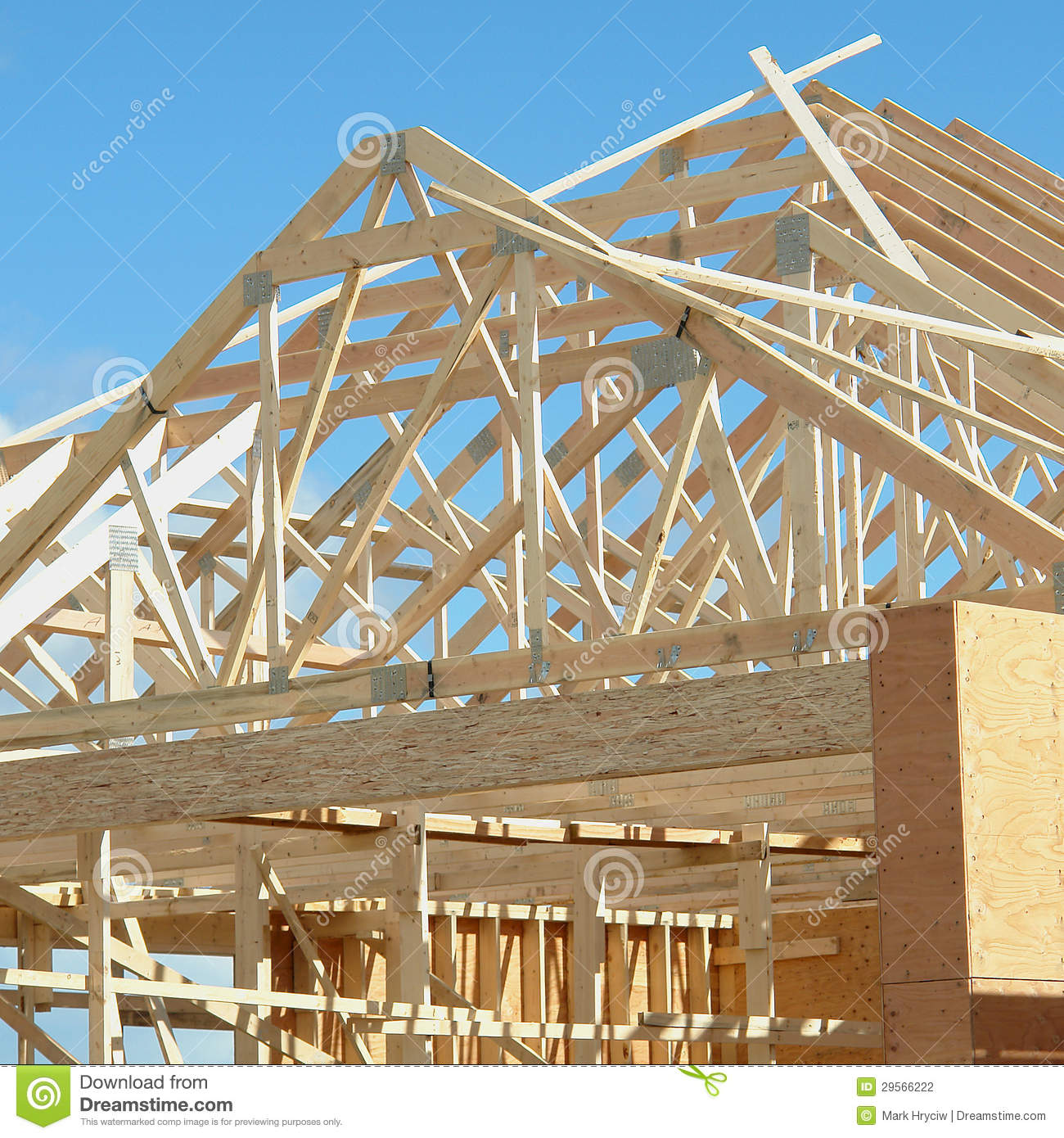House framing exterior of building stock photo image for House building contractors