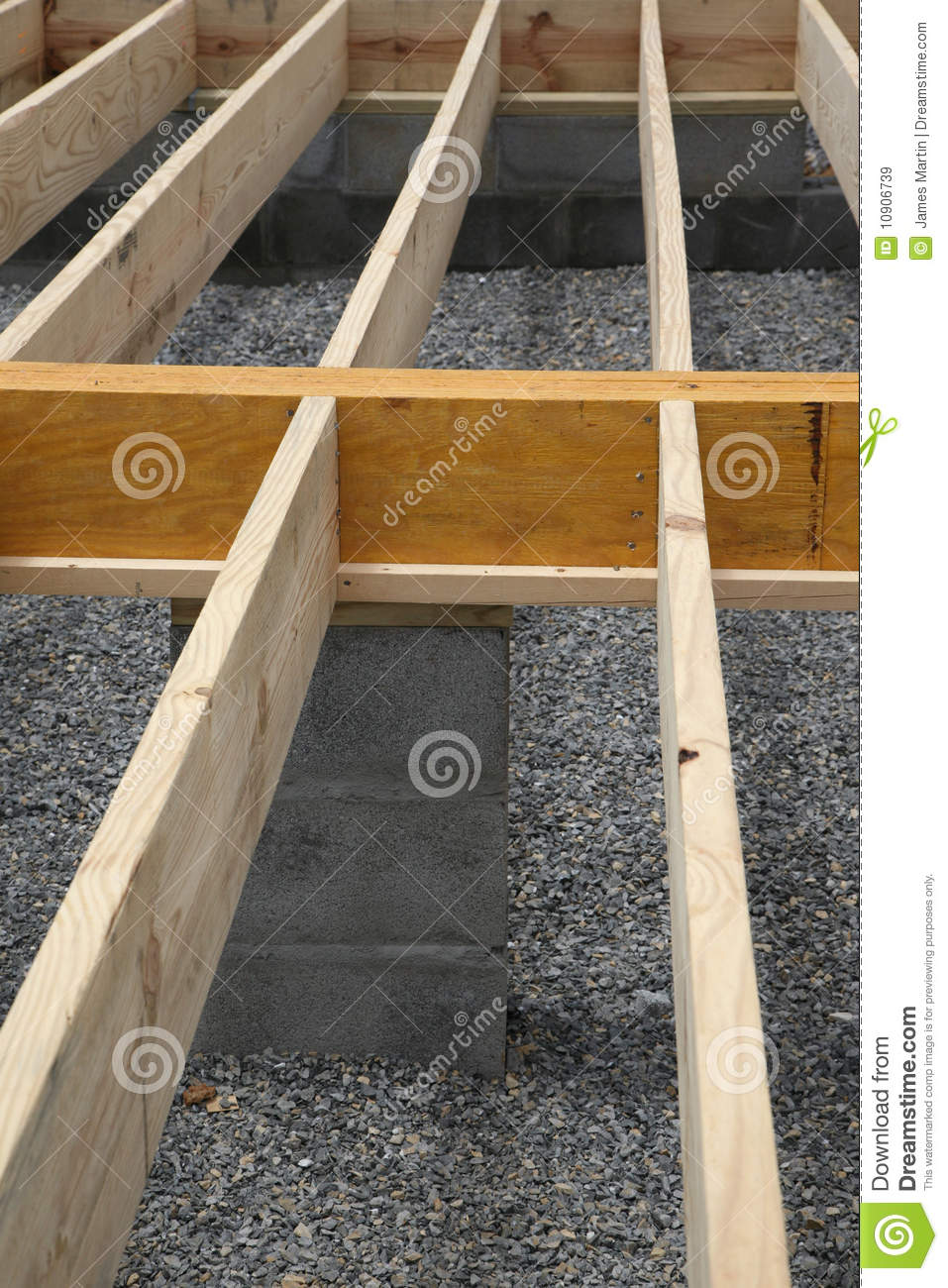 House Framing Floor Joists Stock Image Image 10906739