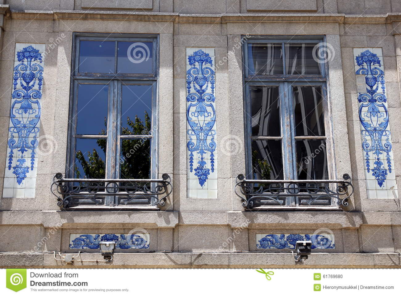 House Front In Porto Portugal Stock Photo Image Of Real Facade