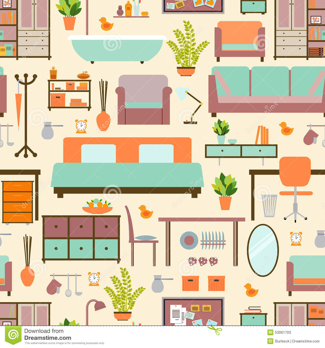 House Furniture Pattern Stock Vector Illustration Of Fashion  # Muebles House And Home