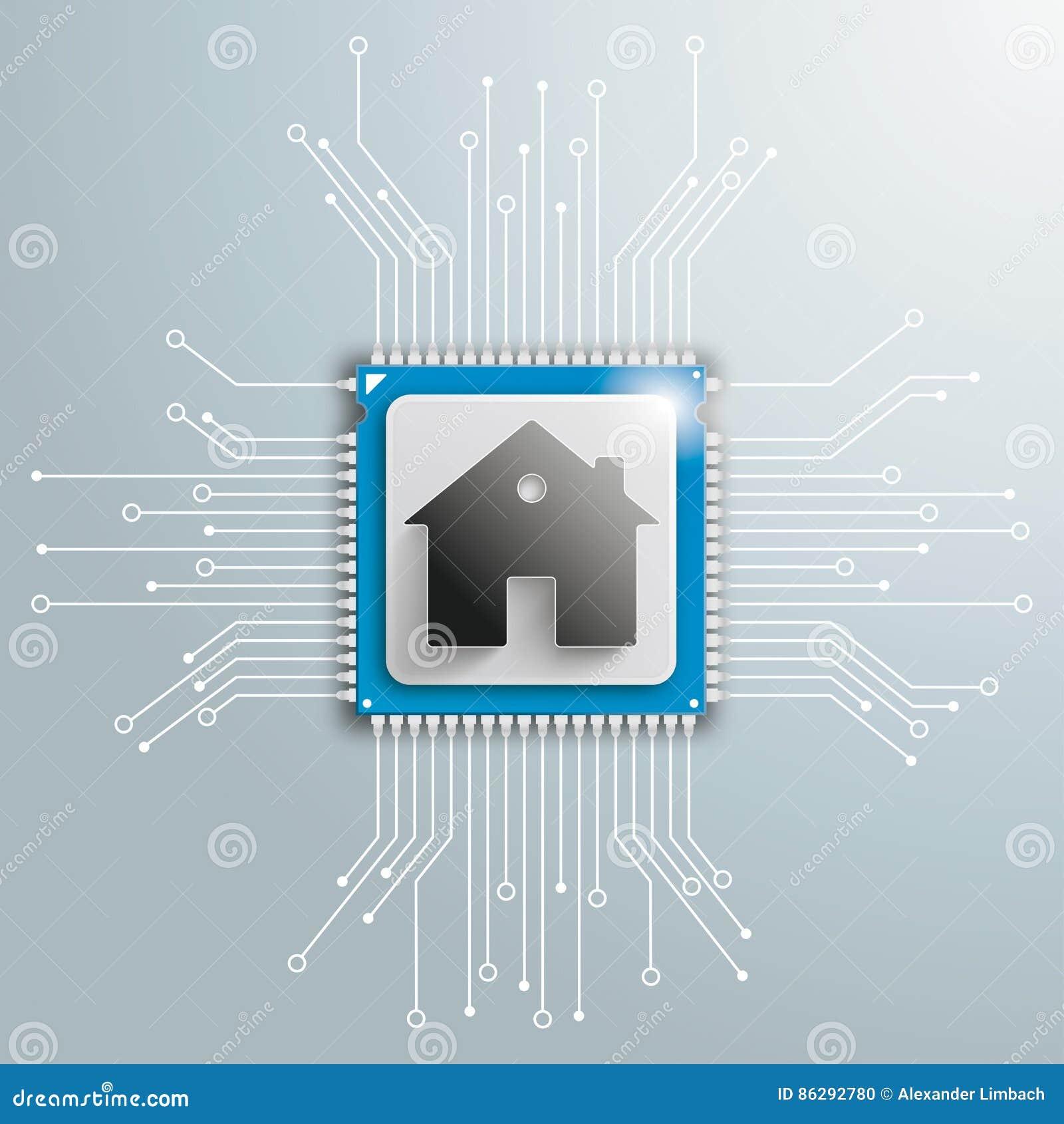 House Futuristic Processor Circuit Board Infographic Stock Vector ...