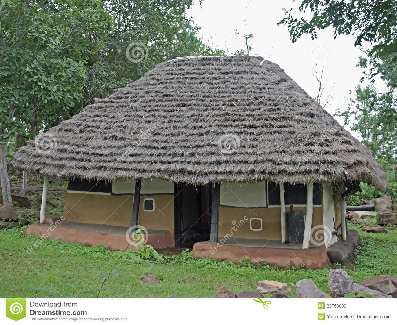 House Of Gadsbaa Agriculturists Tribal Hut Stock Photo
