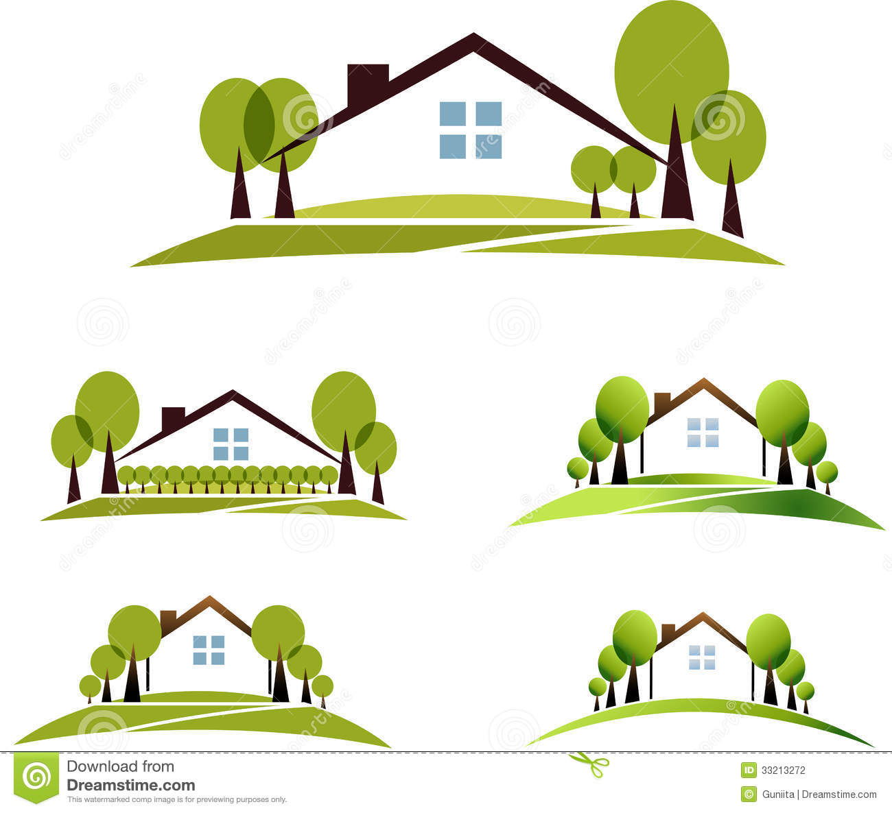 House And Garden Stock Photography - Image: 33213272