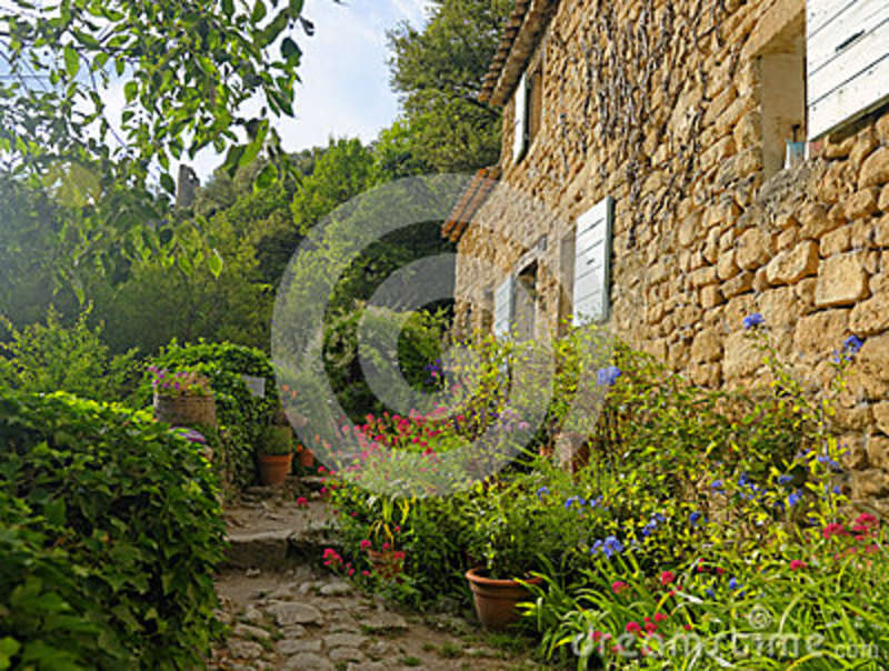 House and garden in Provence