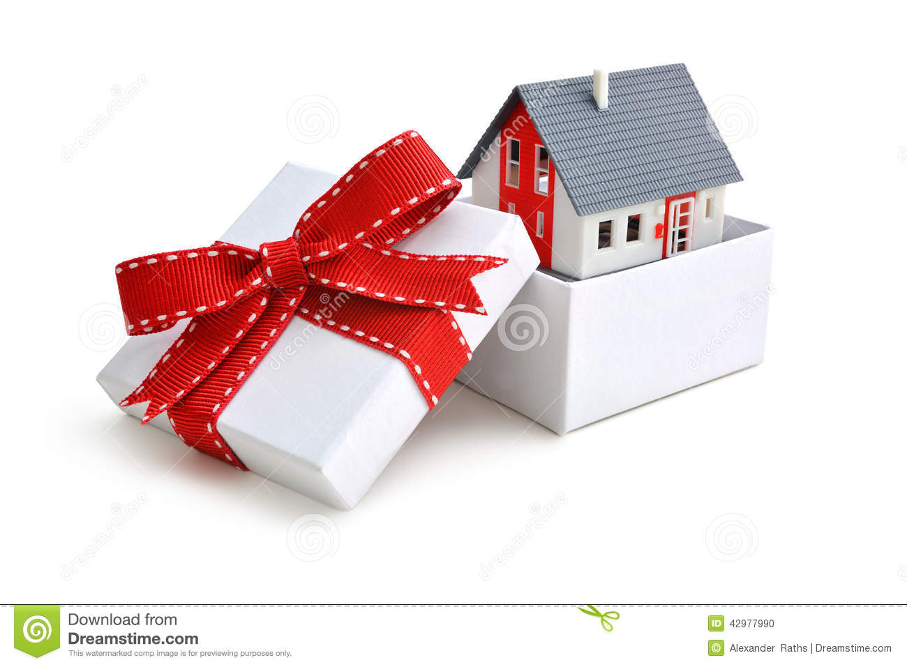 House in gift box stock photo image of industry for House in a box