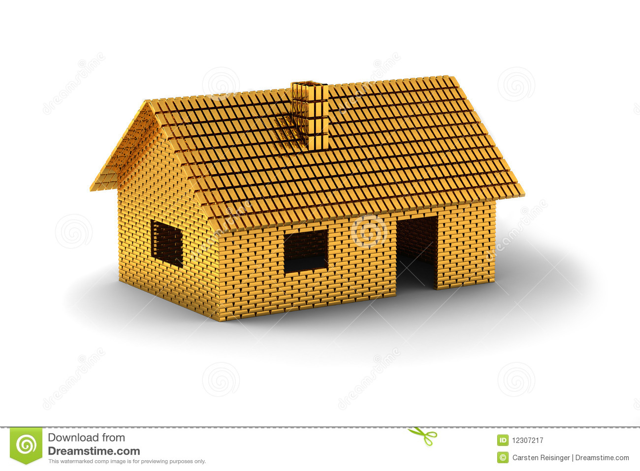 House Of Gold Royalty Free Stock Photography Image 12307217