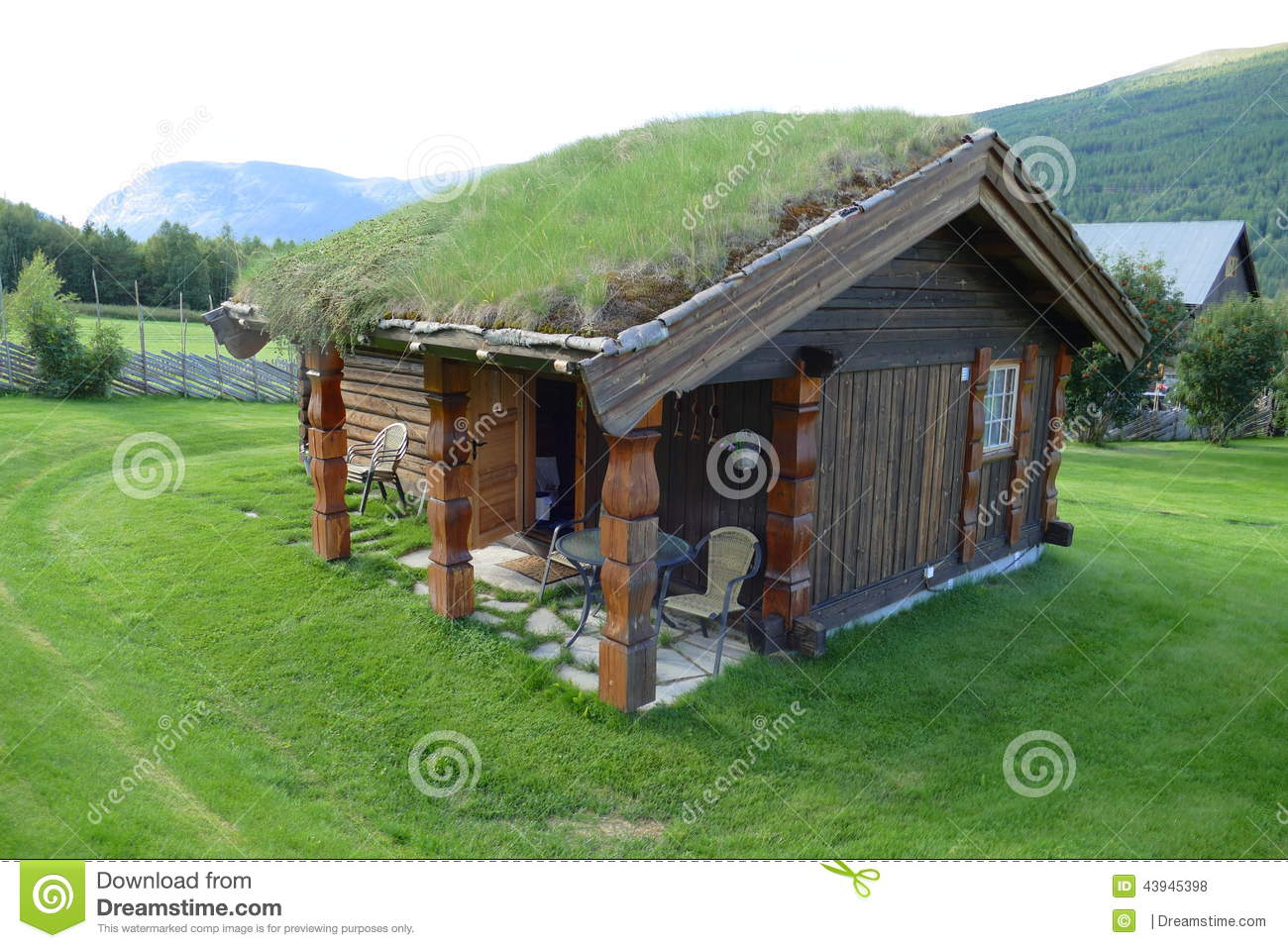 Royalty Free Stock Photo. Download House Grass Roof ...
