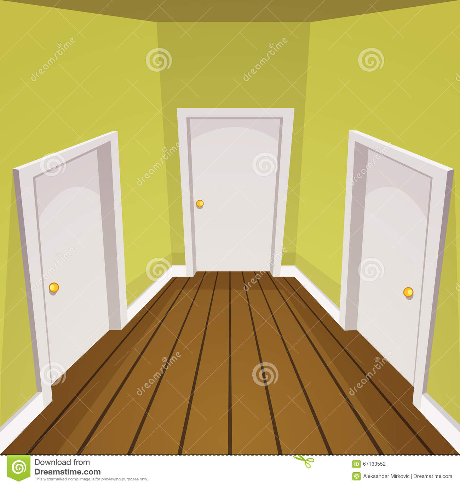 house hallway cartoon illustration 67133552