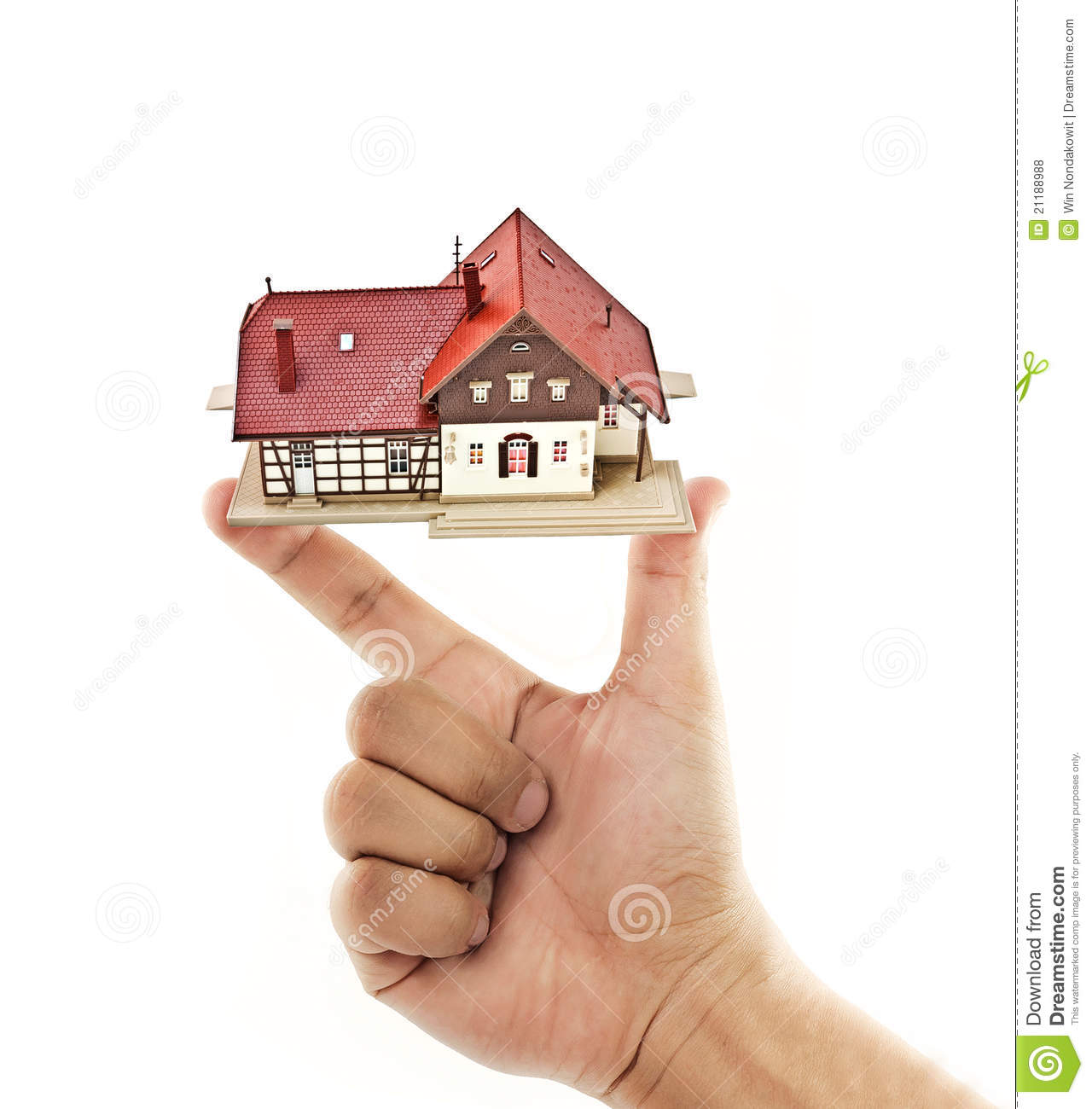 house and hand