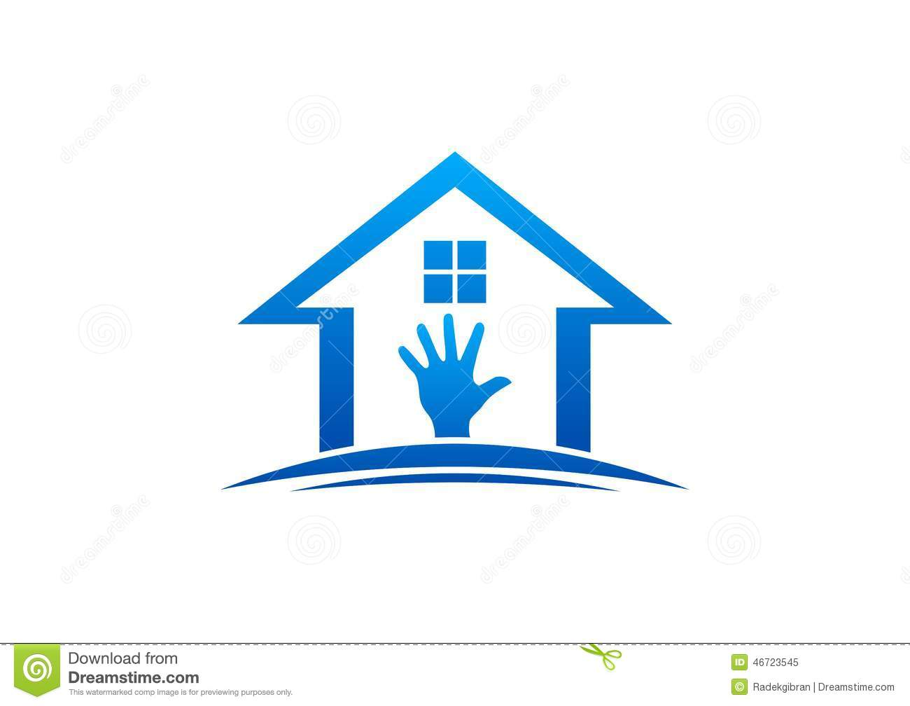 Wonderful House And Hand Logo,home Work,interior And Exterior Home,care Furniture Design  Vector