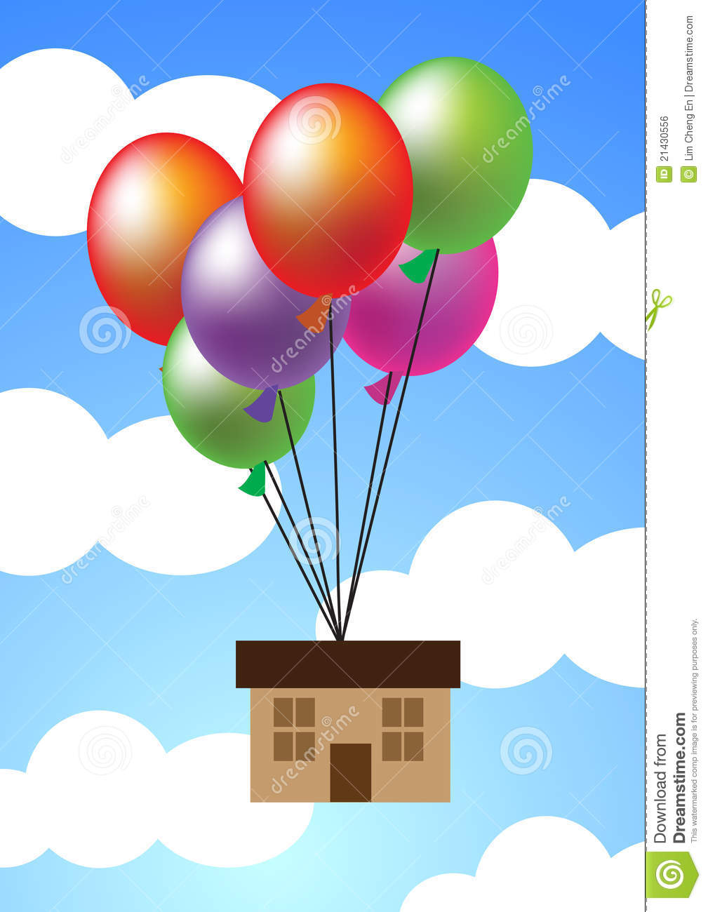 House hanging up with balloons royalty free stock image for Housse ballon yoga