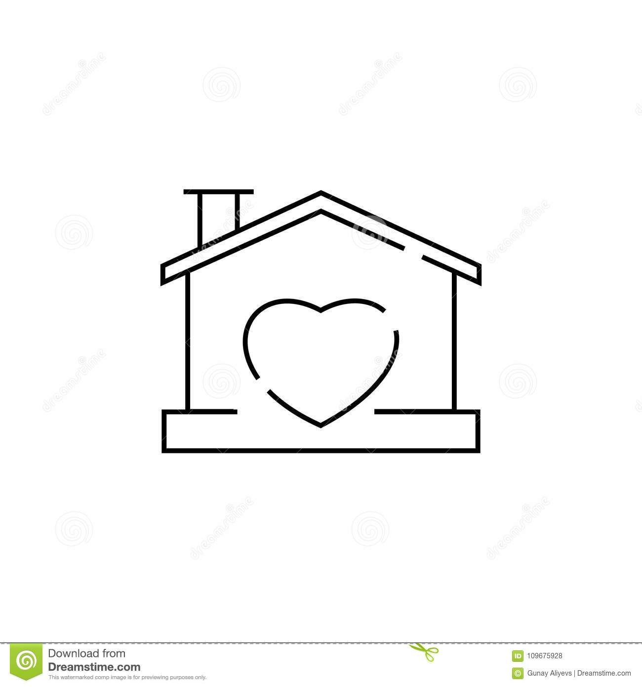 House with heart shape within icon stock illustration house with heart shape within icon biocorpaavc Images