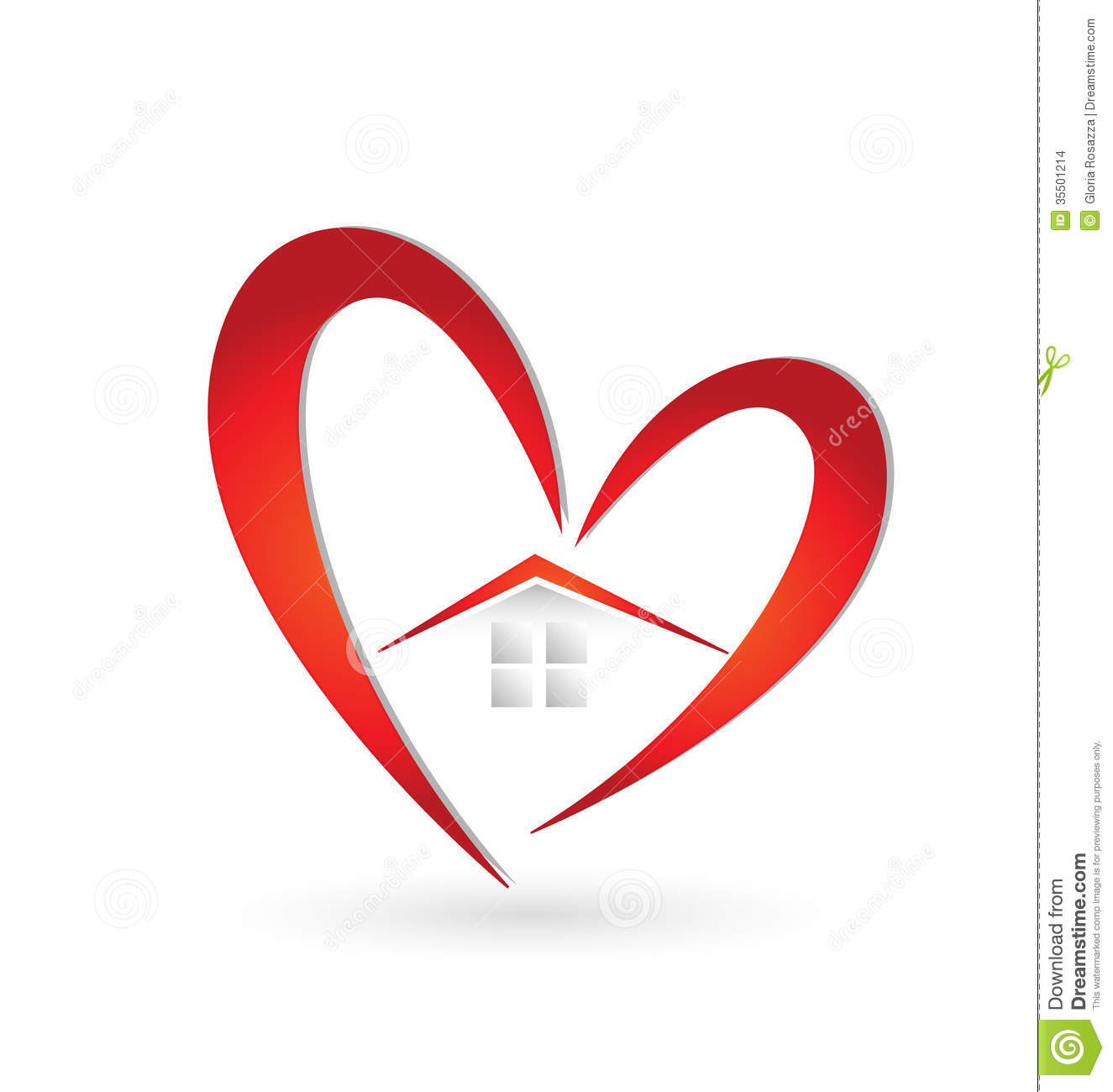 House And Heart Swoosh Logo Stock Images Image 35501214